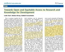 Towards Open and Equitable Access to Research and Knowledge for Development foto de extracto del artículo