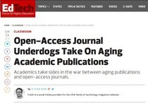 Open-Access Journal Underdogs Take On Aging Academic Publications